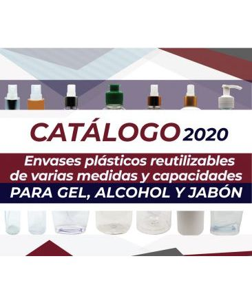 Envases plásticos para gel, alcohol y jabón