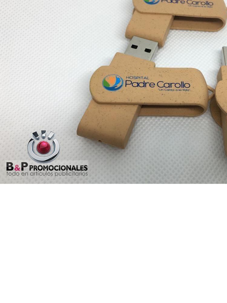 usb ecologico con base giratoria ecologica co logo