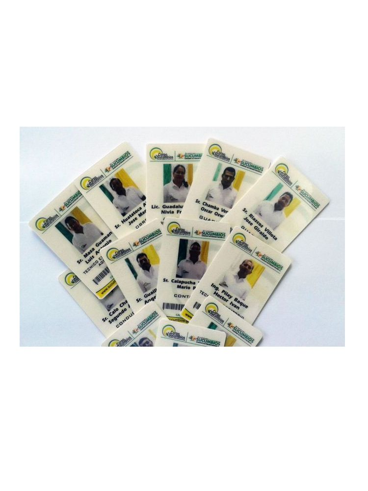Credenciales plásticas en PVC