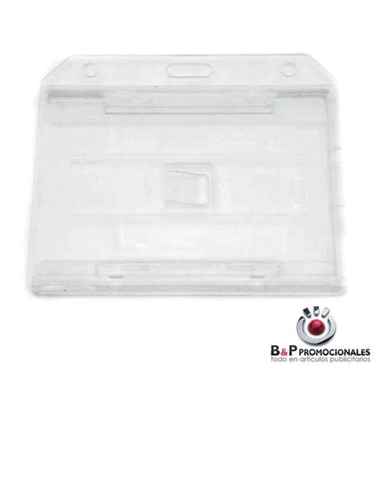 Porta credencial rigido horizontal DOBLE
